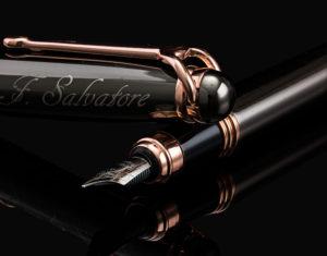rose gold fountain pen
